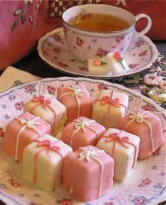 """""""Petit fours,"""" which in French means, """"Wee thingamabobs."""" I kid you not."""