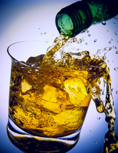 Whiskey, another delicious beverage useful for tolerating coworkers, is not quite so useful at the gym.